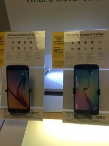 Samsung Galaxy S6 display in the Sprint PCS store, Washington, D.C.