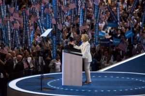 Hillary Clinton, accepting her party's nomination at the Democratic National Convention in Philadelphia, conceded defeat on Wednesday morning.