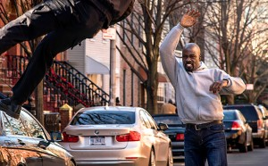 """""""it's important for him to be a black superhero — not a superhero who happens to be blacks,"""" says Cheo Hodari Coker, executive producer of """"Luke Cage,"""" shown in a scene from the ninth episode."""