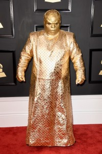 CeeLo Green (a.k.a. Gnarly Davidson) arrives at the 59th Annual Grammy Awards on Feb. 12 in Los Angeles.
