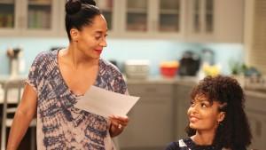 """Blackish"" star Tracee Ellis Ross as Rainbow Johnson with  Yara Shahidi who portrays her TV daughter, Zoey."
