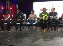 Emancipation Day media panelists, from left, Konshens the MC, White Boy from Rare Essence, Tiny from Allure, radio personality Michel Wright and Ferman Patterson.