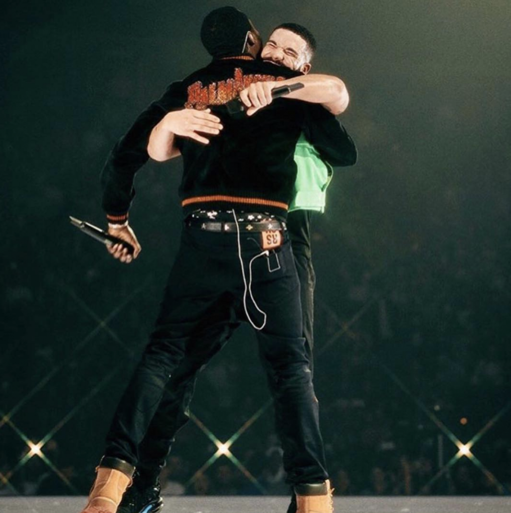 "Drake and Meek Mill perform ""Dreams and Nightmares,"" ending three-year beef."