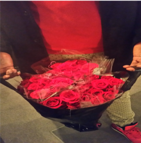 The writer has given out more than 300 roses throughout the Washington area for Valentine's Day.