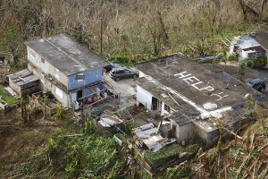 Puerto Rico is still waiting for its full allocation of FEMA aid from Hurricane Maria in 2017. Here is one of the damaged homes in the mountains.
