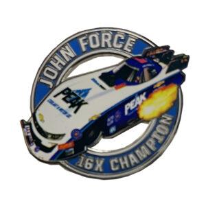 2019 John Force Dircut Hat pin