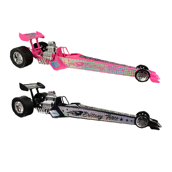 Brittyany Force Toy Dragsters Group photo black and pink