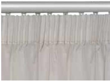 cabezal de cortinas tipo roble