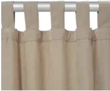 prensillas o cinturones para cortinas