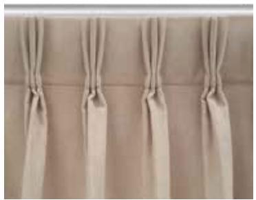 confección de cabezal con pasteleen francés, cortina tradicional