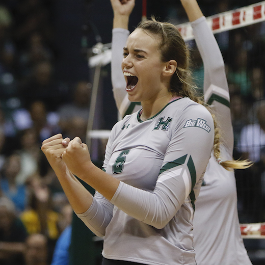 Hawaii Volleyball vs. BYU, September 7, 2017, Stan Sheriff Center.