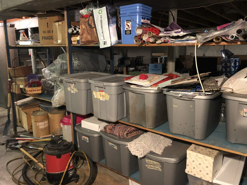 bins in basement. what is the goal?