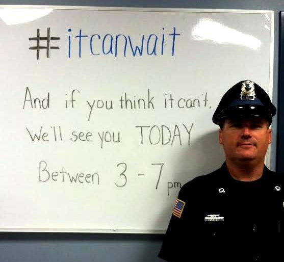 WBPD Takes on Texting & Driving #itcanwait