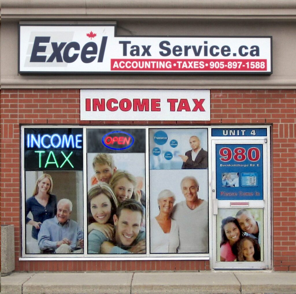 Excel Tax Service Location 980 Burnhamthorpe Rd E. Mississauga, Ontario