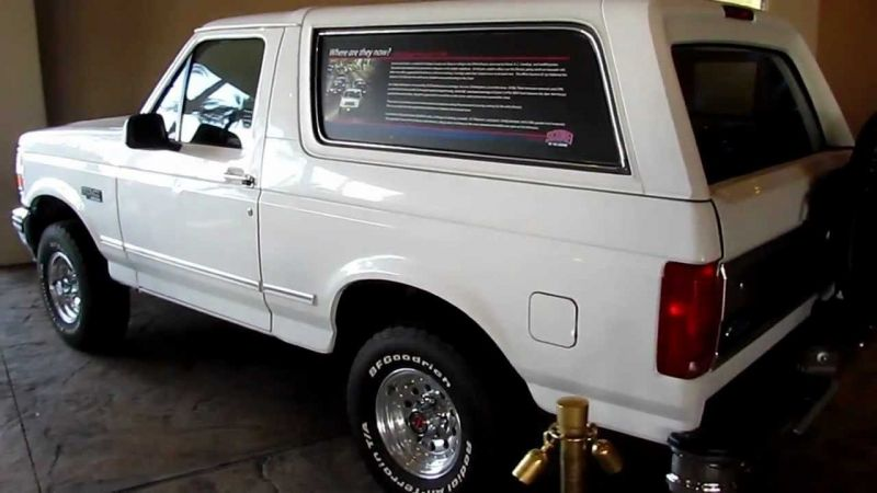 OJ Simpson's 1993 Ford Bronco