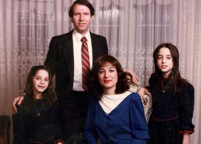 Israel (age 34), Leah (age 32), Michal (age 9) and Yael (age 8) in 1985.