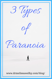 What does paranoia mean if someone is experiencing anxiety, OCD, or psychosis? Learn about different types of paranoia: anxiety and paranoia, OCD and paranoia, and psychosis and paranoia. Includes examples of paranoia in each condition to demonstrate the distinctions.