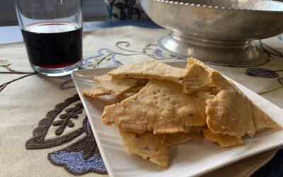 Grain Free Herbed Cassava Crackers