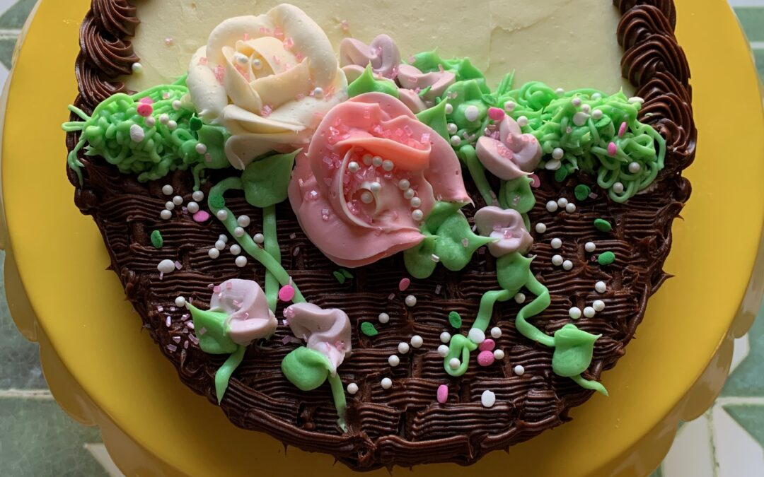 """Allergy Friendly Easter Cake with """"Buttercream"""" Frosting"""