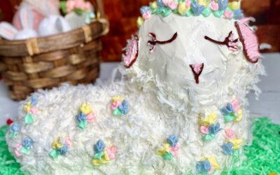Allergy Friendly Easter Lamb Cake