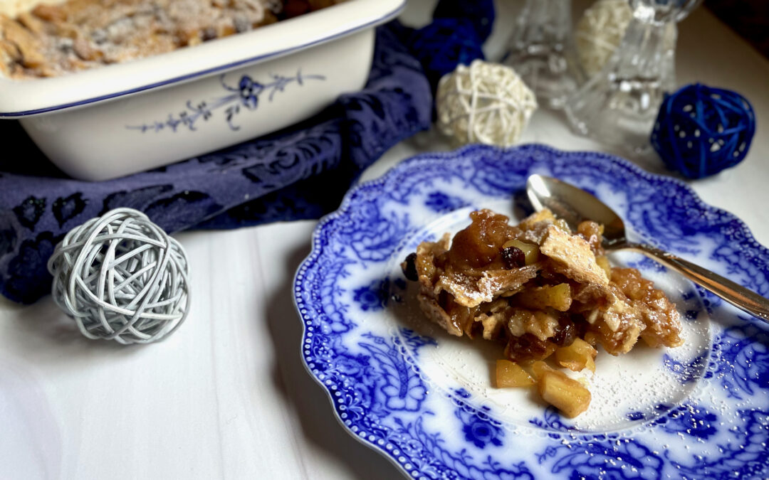 Allergy Friendly Baked Apple Cinnamon Matzoh Brei