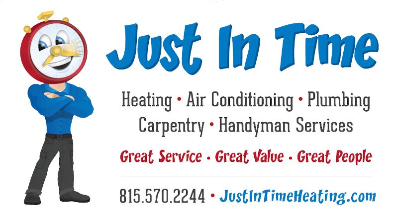 Just in Time Heating, Cooling, Plumbing and more