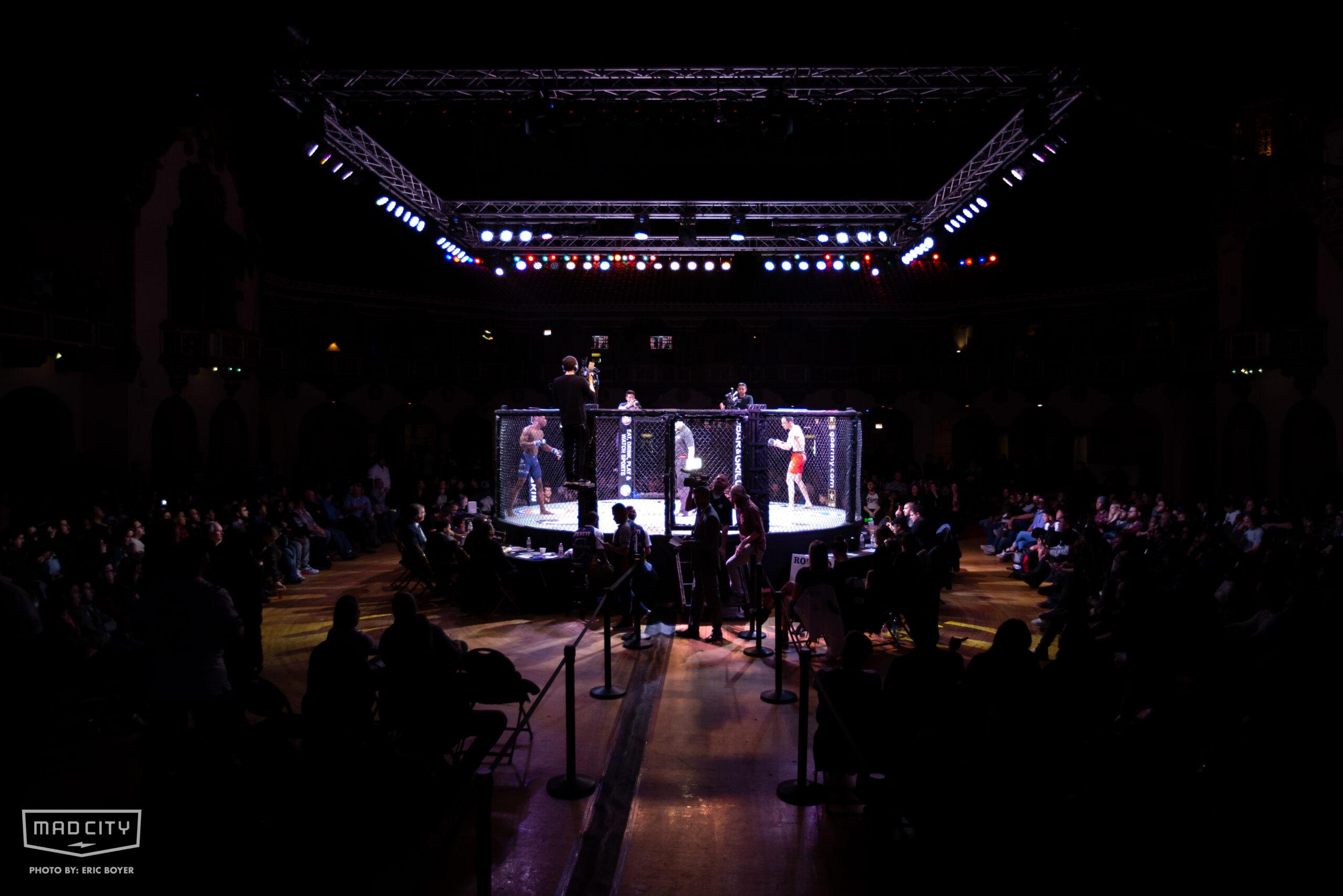MMA Ring at Aragon Ballroom
