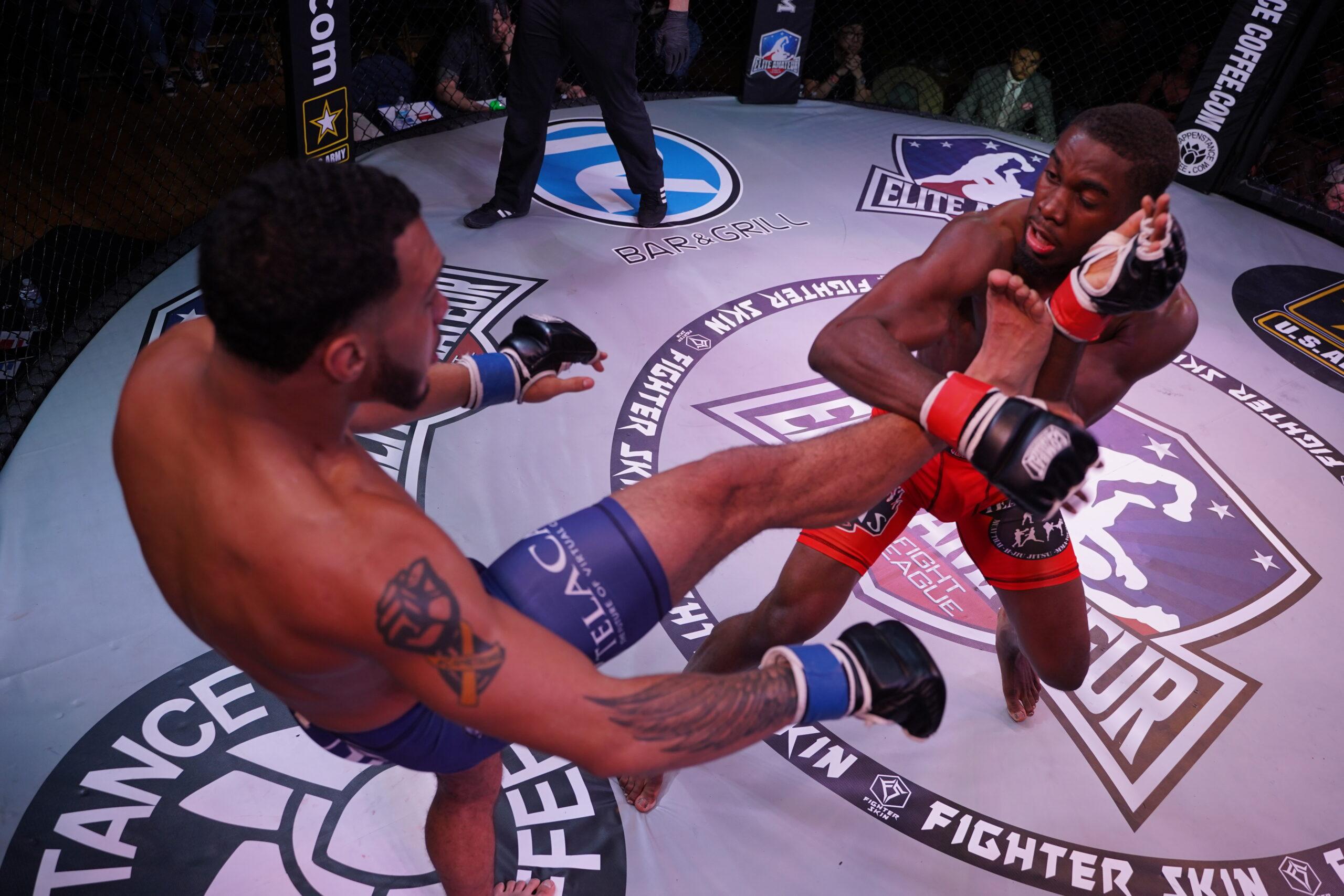 Veal vs Watkins chest kick