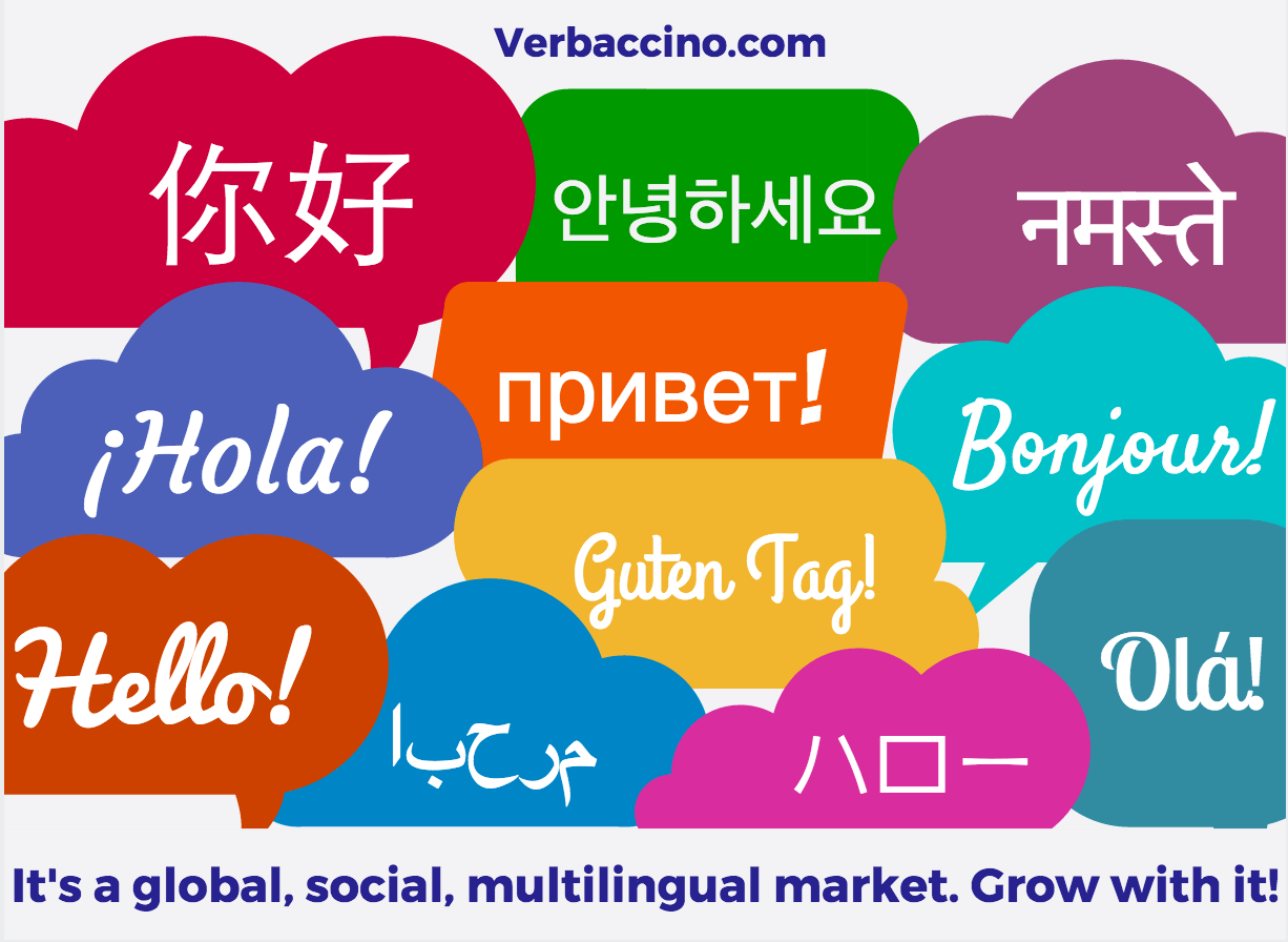 Verbaccino - Hello in 11 languages