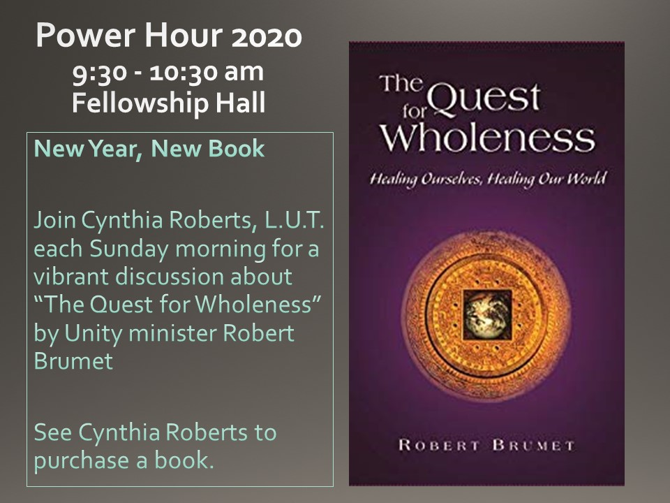 Pour Hour The Quest for Wholeness