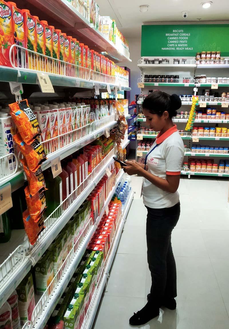 Big Bazaar store auditing at kalka ji delhi