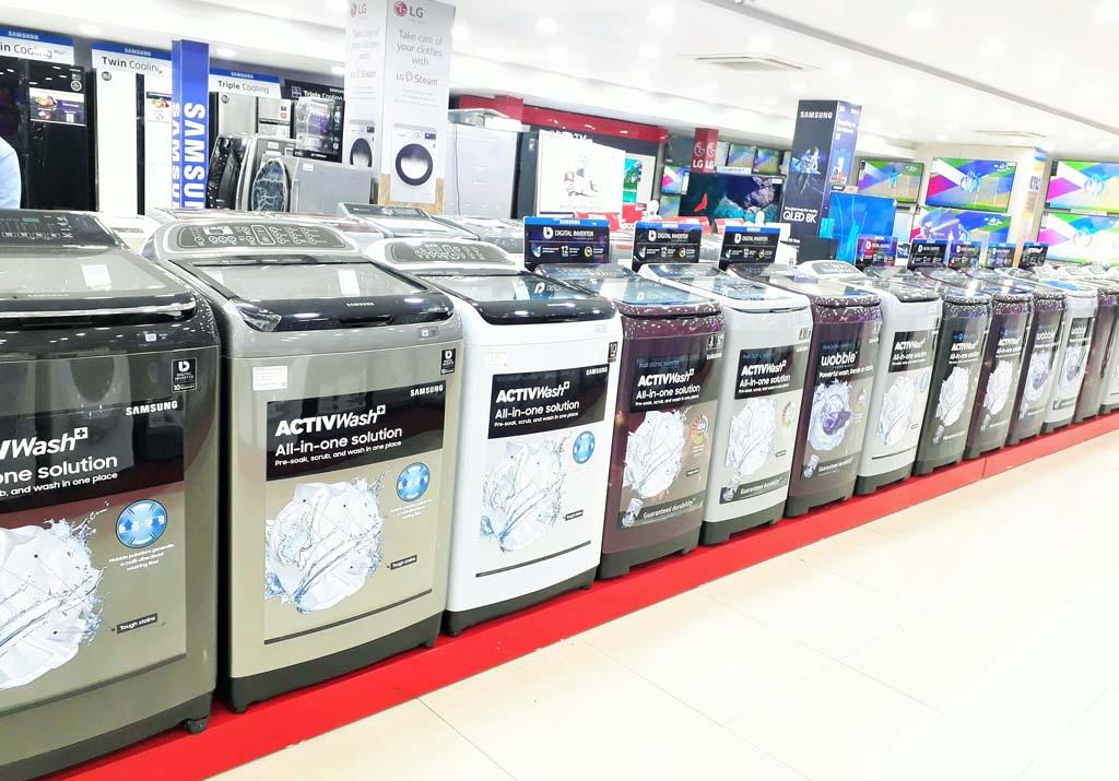 Samsung Washing Machine Retail Merchandising
