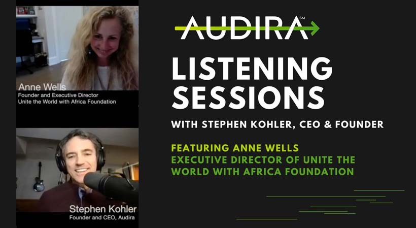 audira listening session with anne wells africa ngo