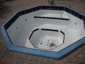 Pristine Pool Coatings the top pool coatings specialists, sample of their work done on a hot tub.