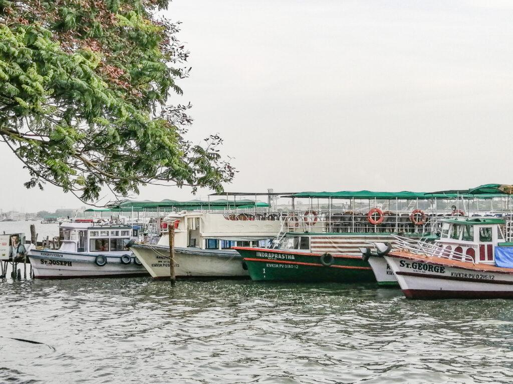 Ferry Boats at Marine Drive, Kochi