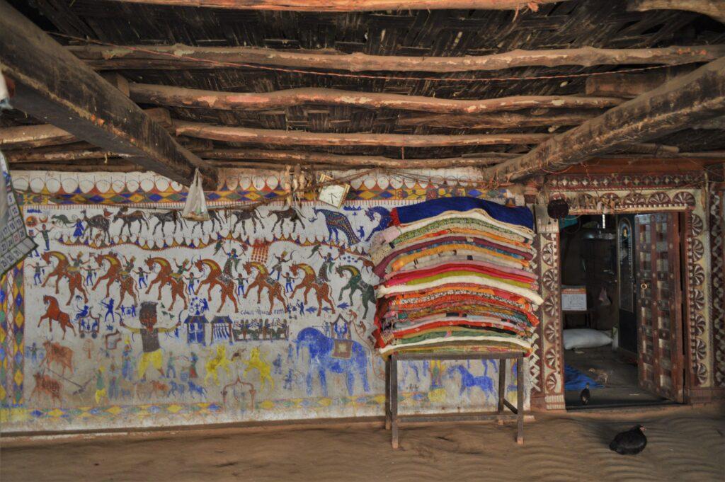 Tribal Pithora Painting, Champaner Pavagadh