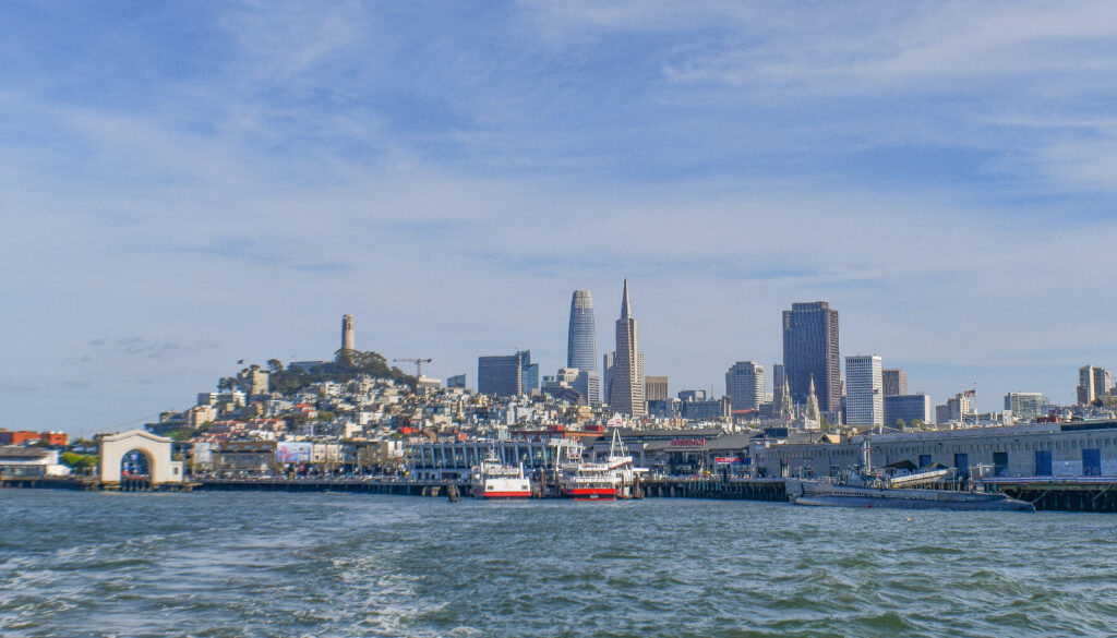 San Francisco Bay view from cruise
