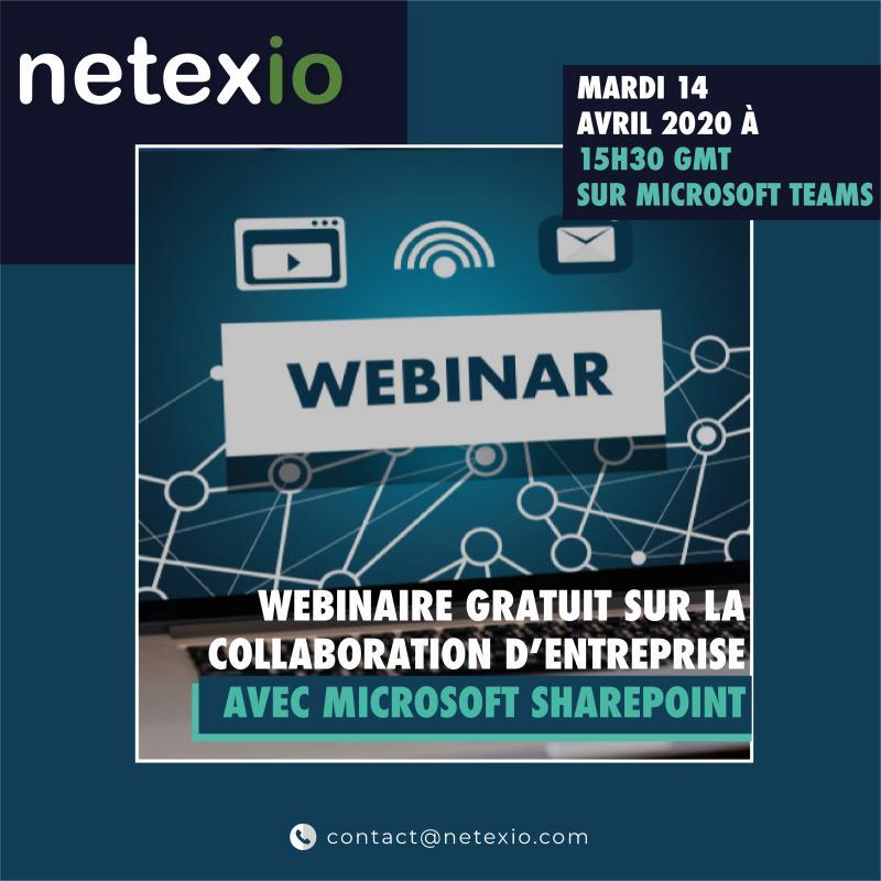 Suivez ici l'enregistrement du Webinaire sur la collaboration en entreprise avec SharePoint