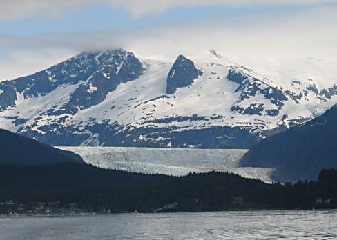 Passing the Mendenhall Glacier and so many other glaciers on our spectacular cruise up Alaska's Inside Passage. (J Jacobs photo)
