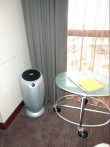 All a guest will notice in a Hyatt hypoallergenic room is a room purifier in a corner and that the air seems particularly fresh