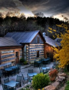 The rustic look of the Inn at Cedar Falls signifies relaxation and an appreciation of organic foods but the kitchen dishes out fine cuisine