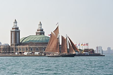 Board or sail out onto Lake Michigan on a Tall Ship the second weekend of August