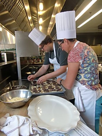 Members of a food enthusiasts class who wanted to learn more about Southwest dishes and preparations are at the San Antonio CIA site