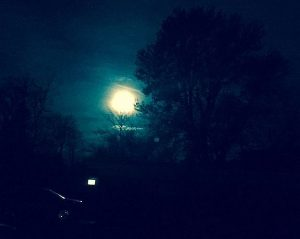 Supermoon over Chicago's northern suburbs Nov. 14, 2016 at 5:10 a.m. CT