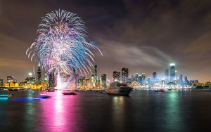 Navy Pier New Year's Eve fireworks start at midnight. Navy Pier photo
