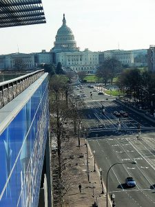 'A Capitol View' taken from the Newseum. Photo by Jodie Jacobs