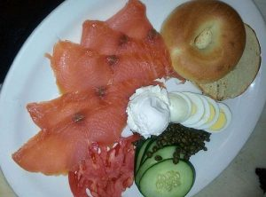 Lox and bagels are often on breakfast buffets but there is a lot more to Easter menus at these restaurants. Photo compliments of Cellars