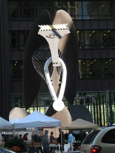 Chicago's Picasso sculpture symbolizes city pride. Jacobs photo