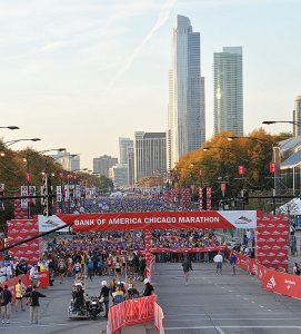 Chicago Marathon starts and ends in Grant Park but runs through 29 Chicago neighborhoods. (Bank of America photo)