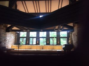A room on the Taliesin estate of Frank Lloyd Wright (Photos by Jodie Jacobs